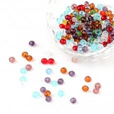 200 Perles à Facettes en Verre Multicolore 4mm pour la Création de Bijoux Fantaisie - DIY