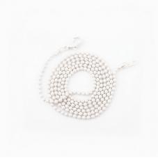 Collier Chaîne à Bille Blanc 65cm pour la Création de Bijoux Fantaisie - DIY