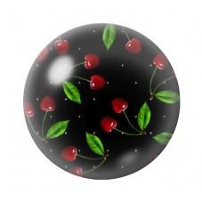 Cabochon en Verre Illustré Fruits Cerises Rétro 12 à 25mm pour la Création de Bijoux Fantaisie - DIY