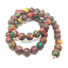 5 Perles Pierre Naturelle Malachite 8mm  pour la Création de Bijoux Fantaisie - DIY
