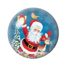 Cabochon en Verre Illustré Père-Noël Cadeaux 12 à 25mm pour la Création de Bijoux Fantaisie - DIY