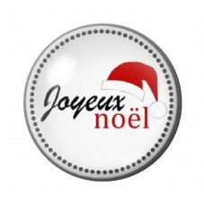 Cabochon en Verre Illustré Joyeux Noël 12 à 25mm pour la Création de Bijoux Fantaisie - DIY