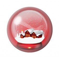 Cabochon en Verre Illustré Boule Village de Noël 12 à 25mm pour la Création de Bijoux Fantaisie - DIY