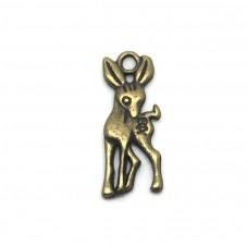 5 Breloques Faon Bronze 19x7mm pour la Création de Bijoux Fantaisie - DIY