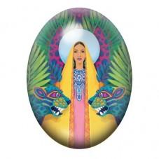 Cabochon en Verre Illustré Femme Exotique Coloré 13x18, 18x25 ou 30x40mm pour la Création de Bijoux Fantaisie - DIY