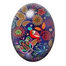 Cabochon en Verre Illustré Coloré 13x18, 18x25 ou 30x40mm pour la Création de Bijoux Fantaisie - DIY