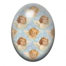 Cabochon en Verre Illustré Visages d'Ange Peinture 13x18, 18x25 ou 30x40mm pour la Création de Bijoux Fantaisie - DIY