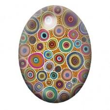 Cabochon en Verre Illustré Fantaisie Colorés 13x18, 18x25 ou 30x40mm pour la Création de Bijoux Fantaisie - DIY