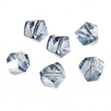 10 Perles en Verre à Facettes Bleu Gris 10x9mm pour la Création de Bijoux Fantaisie - DIY