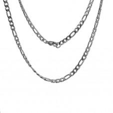 Collier Chaîne Maille Figaro 3/1 en Acier Inoxydable - 50,5cm de Long pour la Création de Bijoux Fantaisie - DIY