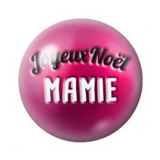 """Cabochon en Verre Illustré """"Joyeux Noël Mamie"""" 12 à 25mm pour la Création de Bijoux Fantaisie - DIY"""