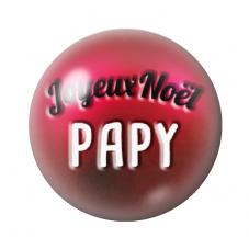 """Cabochon en Verre Illustré """"Joyeux Noël Papy"""" 12 à 25mm pour la Création de Bijoux Fantaisie - DIY"""