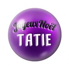 """Cabochon en Verre Illustré """"Joyeux Noël Tatie"""" 12 à 25mm pour la Création de Bijoux Fantaisie - DIY"""
