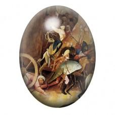 Cabochon en Verre Illustré Peinture Bosh 13x18, 18x25 ou 30x40mm pour la Création de Bijoux Fantaisie - DIY