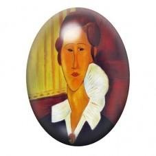 Cabochon en Verre Illustré Peinture Modigliani 13x18, 18x25 ou 30x40mm pour la Création de Bijoux Fantaisie - DIY