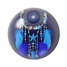 Cabochon en Verre Illustré Attrape-Rêves Coquillages 12 à 25mm pour la Création de Bijoux Fantaisie - DIY