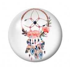 Cabochon en Verre Illustré Attrape-Rêves Fleurs 12 à 25mm pour la Création de Bijoux Fantaisie - DIY