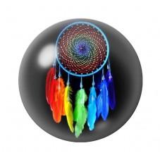 Cabochon en Verre Illustré Attrape-Rêves Coloré 12 à 25mm pour la Création de Bijoux Fantaisie - DIY