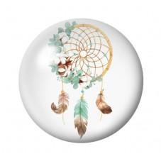 Cabochon en Verre Illustré Attrape-Rêves Nature 12 à 25mm pour la Création de Bijoux Fantaisie - DIY
