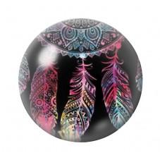 Cabochon en Verre Illustré Attrape-Rêves 12 à 25mm pour la Création de Bijoux Fantaisie - DIY