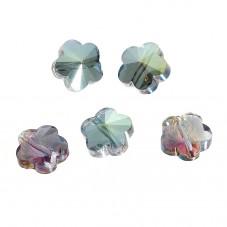 5 Perles en Verre à Facettes Fleur 10mm pour la Création de Bijoux Fantaisie - DIY