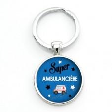 """Porte-Clé """"Super Ambulancière"""" Cadeau Original Anniversaire Noël"""
