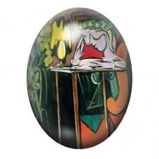 """Cabochon en Verre Illustré Peinture """"Femme lisant à la table"""" Picasso 13x18, 18x25 ou 30x40mm pour la Création de Bijoux Fantais"""