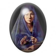 Cabochon en Verre Illustré Peinture Femme voilée 13x18, 18x25 ou 30x40mm pour la Création de Bijoux Fantaisie - DIY