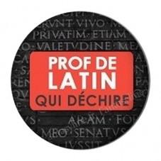 """Cabochon en Résine à Coller """"Prof de Latin qui Déchire"""" 25mm pour la Création de Bijoux Fantaisie - DIY"""