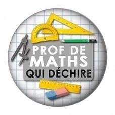 """Cabochon en Résine à Coller """"Prof de Maths qui Déchire"""" 25mm pour la Création de Bijoux Fantaisie - DIY"""
