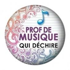 """Cabochon en Résine à Coller """"Prof de Musique qui Déchire"""" 25mm pour la Création de Bijoux Fantaisie - DIY"""