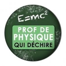 """Cabochon en Résine à Coller """"Prof de Physique qui Déchire"""" 25mm pour la Création de Bijoux Fantaisie - DIY"""