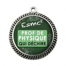 """Pendentif Cabochon en Résine """"Prof de Physique qui Déchire"""" 25mm pour la Création de Bijoux Fantaisie - DIY"""