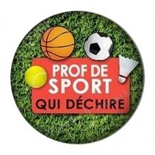 """Cabochon en Résine à Coller """"Prof de Sport qui Déchire"""" 25mm pour la Création de Bijoux Fantaisie - DIY"""