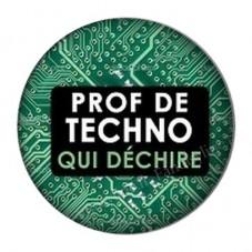 """Cabochon en Résine à Coller """"Prof de Techno qui Déchire"""" 25mm pour la Création de Bijoux Fantaisie - DIY"""