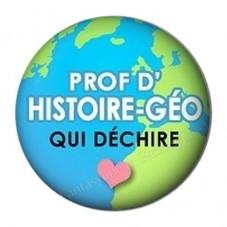 """Cabochon en Résine à Coller """"Prof d'Histoire-Géo qui Déchire"""" 25mm pour la Création de Bijoux Fantaisie - DIY"""