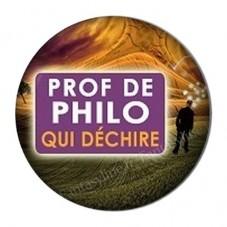 """Cabochon en Résine à Coller """"Prof de Philo qui Déchire"""" 25mm pour la Création de Bijoux Fantaisie - DIY"""