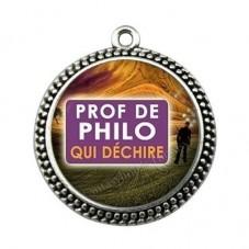 """Pendentif Cabochon en Résine """"Prof de Philo qui Déchire"""" 25mm pour la Création de Bijoux Fantaisie - DIY"""