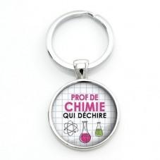 """Porte-clé """"Prof de Chimie qui déchire"""" Cadeau Original Humour Anniversaire Noël pour la Création de Bijoux Fantaisie - DIY"""