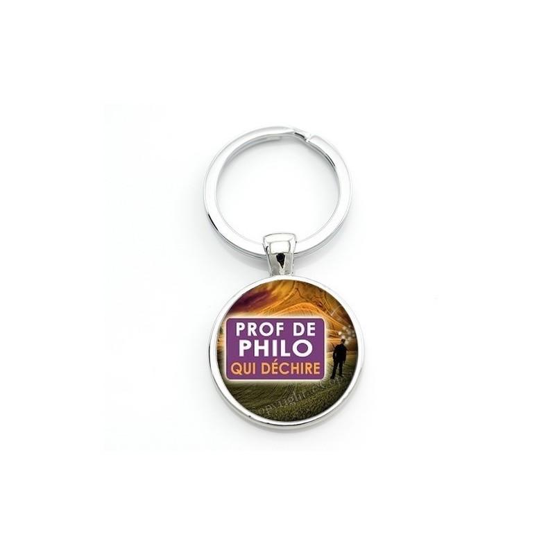 """Porte-clé """"Prof de Philo qui déchire"""" Cadeau Original Humour Anniversaire Noël"""