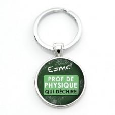 """Porte-clé """"Prof de Physique qui déchire"""" Cadeau Original Humour Anniversaire Noël pour la Création de Bijoux Fantaisie - DIY"""