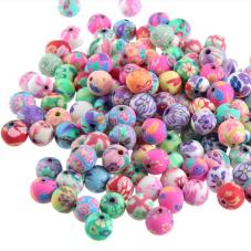 30 Perles en Pâte Polymère Fimo 8mm pour la Création de Bijoux Fantaisie - DIY