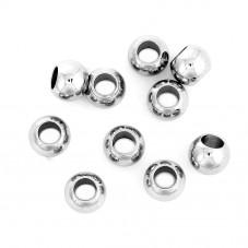 20 Perles Intercalaires Argentées en Acier Inoxydable 6mm pour la Création de Bijoux Fantaisie - DIY