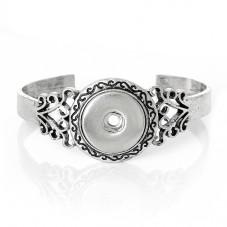 Support Bracelet en Métal pour Bouton Pression Snap 20mm