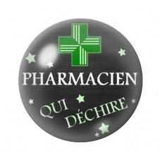"""Cabochon en Verre Illustré Thème Médical """"Pharmacien qui Déchire"""" 12 à 25mm pour la Création de Bijoux Fantaisie - DIY"""