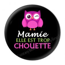 """Cabochon en Résine à Coller """"Mamie Super Chouette"""" 25mm pour la Création de Bijoux Fantaisie - DIY"""