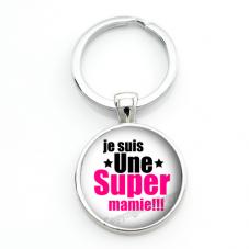 """Porte-clé """"Je suis une Super Mamie"""" Cadeau Fête des Grands-Mères pour la Création de Bijoux Fantaisie - DIY"""