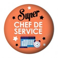 """Cabochon en Résine à Coller """"Super Chef de Service"""" 25mm pour la Création de Bijoux Fantaisie - DIY"""
