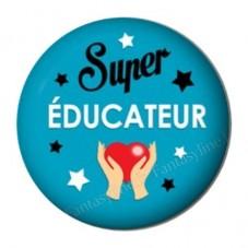 """Cabochon en Résine à Coller """"Super Educateur"""" 25mm pour la Création de Bijoux Fantaisie - DIY"""