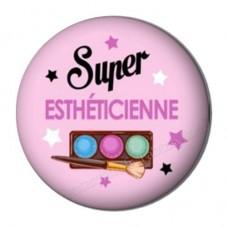 """Cabochon en Résine à Coller """"Super Esthéticienne"""" 25mm pour la Création de Bijoux Fantaisie - DIY"""